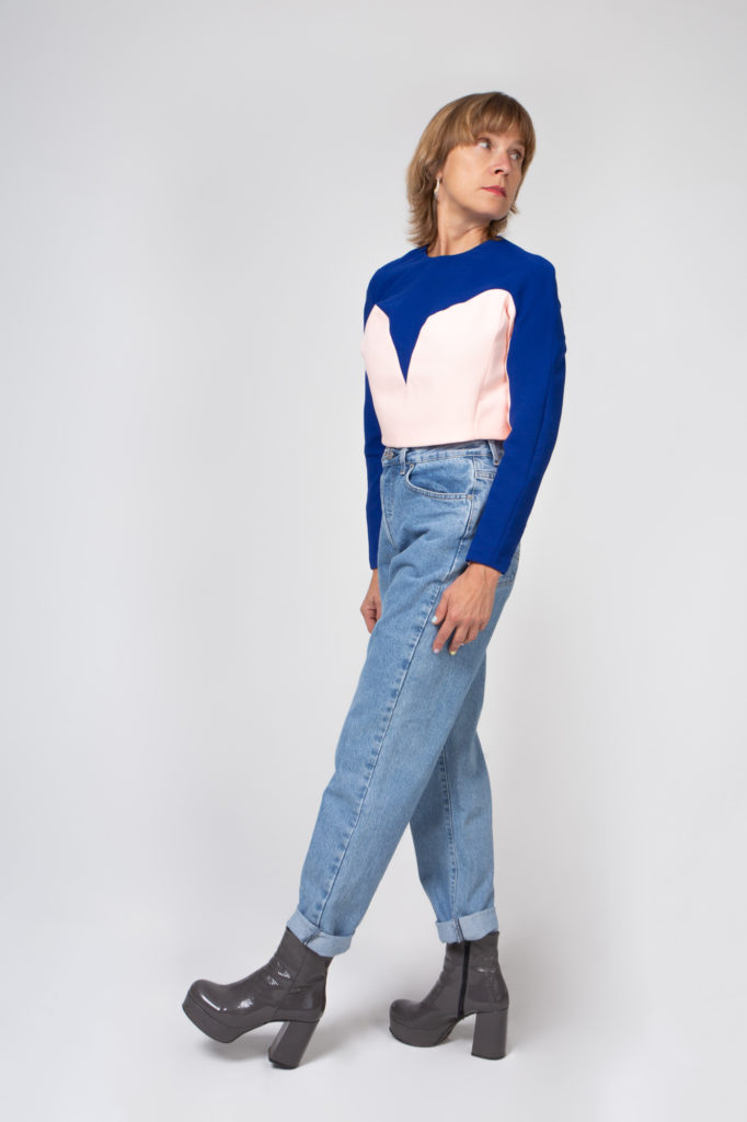 Lookbook 2020 blue and pink top side