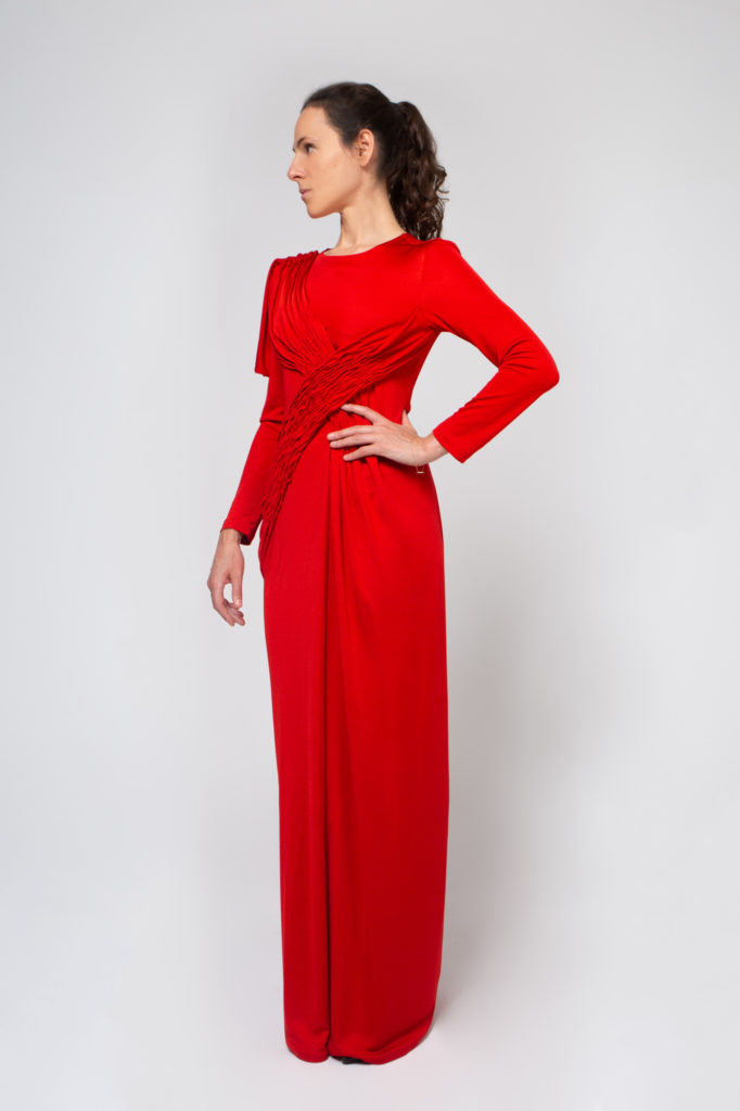 Lookbook 2020 red dress front